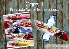 Cars Printable Party Package Disney 3 Birthday Ideas