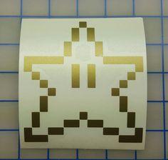 Nintendo  Mario Brothers 8 Bit Power Star  16 colors by RidinNerdy