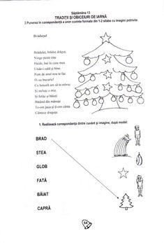 Fise de lucru Kindergarten Worksheets, Preschool Activities, School Lessons, Anul Nou, Words, Gabriel, Logo, Studying, Archangel Gabriel