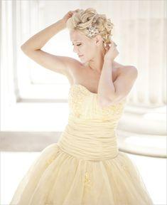 pastel wedding dress