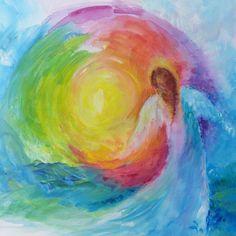 O Original Angel Painting on Canvas TITLE by BarabajagalARTS