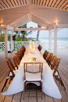 My idea of a celebration,right on the water,all seated together!