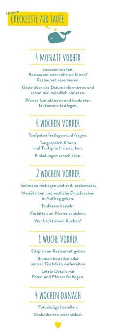Checkliste Taufe // Tauffeier // Bericht Taufe // Ein Stück vom Glück