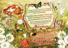 Items similar to Fairies and Elves Party Invitations, Fairy Party, Enchanted Forest Party, Magical Birthday Invitations, Magical Enchanted Fairy Forest Party on Etsy Fairy Invitations, Birthday Party Invitations, Birthday Fun, 1st Birthday Parties, Birthday Ideas, Enchanted Forest Party, Party Time, Baron, Elves