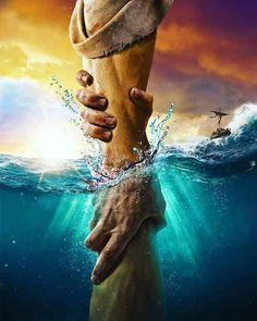 The directional love of God keeps us from sinking. Keep our heart's set on the Voice of His Son Jesus Christ. God Bless YOU! Images Du Christ, Pictures Of Jesus Christ, Bible Pictures, God Pictures, Image Jesus, Afrique Art, Jesus Wallpaper, Wallpaper Art, Jesus Painting
