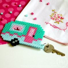 Retro Camper Keychain and FREE Perler Bead Pattern