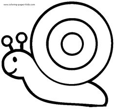 Simple Snail color page for young kids. Animal coloring pages. Coloring pages for kids. Thousands of free printable coloring pages for kids! Easy Coloring Pages, Animal Coloring Pages, Free Printable Coloring Pages, Free Coloring, Coloring Pages For Kids, Coloring Books, Art Drawings For Kids, Drawing For Kids, Easy Drawings
