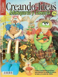 Revistas de Manualidades Para Descargar: Creando Ideas Muñequeria y Lenceria N°74