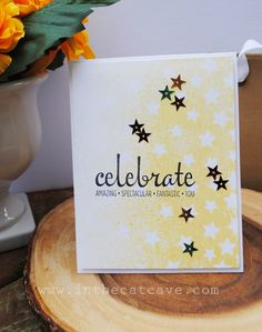 In The Cat Cave: Stenciling Stars | AWW