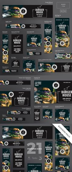 Banners Pack | Burger House #banner