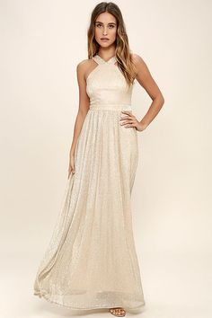 31 Best Gold maxi dresses images  60b1bde94868