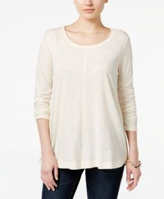 Style & Co. Long-Sleeve Swing Top, Only at Macy's   macys.com