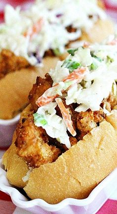 These crispy shrimp rolls are sort of a cross between a lobster roll and a shrimp po'boy.