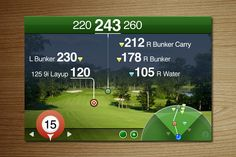 Golfscape GPS Rangefinder The next time you go for a round of golf, you might bring along Golfscape GPS Rangefinder. This app pinpoints your position on the golf course and lets you choose your desired landing area.
