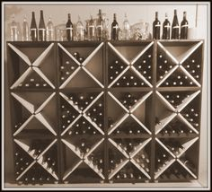 288 Bottle Wood Wine Rack Two Tone Solid Espresso by AllAboutHome, create your own wine cellar
