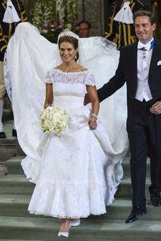 Märchenhochzeit in Schweden: Prinzessin Madeleine heiratete am 8. Juni 2013 in Stockholm ihren Chris O'Neill – in einem traumhaften Brautkleid von Valentino Haute Couture.