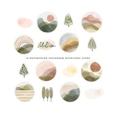 Watercolor Circles, Watercolor Logo, Watercolor Landscape, Watercolor Painting, Photo Editing Apps, Cupcake Logo, Forest Sunset, Drawing Clipart, Photography Marketing