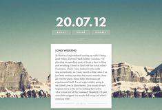 20 Creative Personal Blog Web Designs - Speckyboy Design Magazine