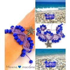 Starfish purple #violet #bracelet summer sea star  by #morenamacrame #etsymntt