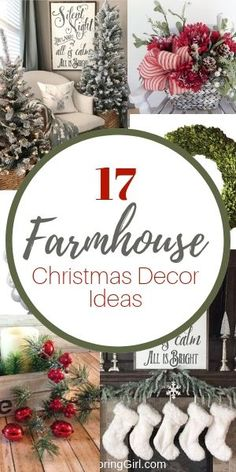 decorating ideas for Christmas. Farmhouse decorating ideas for Christmas. Chic Christmas Tree Decorating Ideas That Will Bring Cheer Farmhouse Christmas Decor, Farmhouse Style Decorating, Rustic Christmas, Farmhouse Decor, Christmas Wreaths, Christmas Crafts, Christmas Decorations, Xmas, Christmas Ornaments