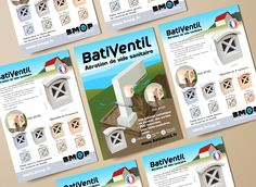 L'entreprise BMOP vient de créer la marque BatiVentil pour distribuer son nouveau produit : une Aération de vide sanitaire en béton moulé. Création d'une identité visuelle pour la marque BatiVentil : Logo, flyer, présentoir. Logos, Monopoly, Crawl Spaces, Corporate Design, Business, Logo