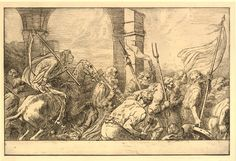 Le Triomphe de la Mort, Le Départ d'Alphonse Legros (1837-1911), eau-forte et pointe sèche, 32 x 48,8 cm, British Museum à Londres.