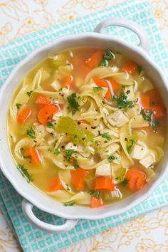 Chicken (or Turkey) Noodle Soup - Put Those Turkey Leftovers to Good Use!  Sugar & Spice by Celeste