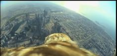 VIDEO: Eagles-Eye View From Worlds Tallest Building I saw this and thought of Raven soaring out over the moor. Yes, this is an eagle, and a city, but you'll see what I mean. Viking Arm Rings, Dubai Video, High Flight, Eagle Eye, The Weather Channel, See Videos, Burj Khalifa, Just Amazing, Eagles