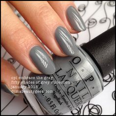 OPI Embrace the Gray - Fifty Shades of Grey Collection January 2015 ©imabeautygeek.com