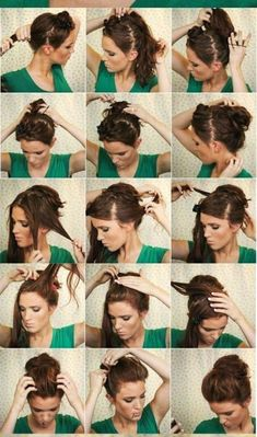 Step by step bun hairstyles