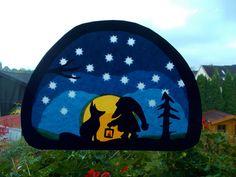 Jahreszeitentisch - Waldorf Transparentbild Tomte und der Fuchs - ein Designerstück von Puppenprofi bei DaWanda