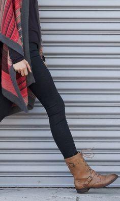 #fall #fashion / cardigan + boots