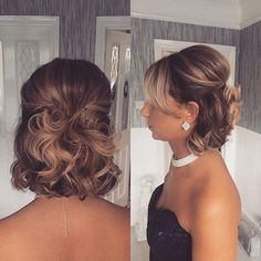 Cute-Half-Updo Wedding Hairstyles for Short Hair 2019 - Hair - . - Cute-Half-Updo Wedding Hairstyles for Short Hair 2019 - Formal Hairstyles For Short Hair, Evening Hairstyles, Quick Hairstyles, Short Hair Cuts, Short Hair Bridesmaid Hairstyles, Wedding Hairstyles For Short Hair, Very Short Hair Updo, Short Hairstyles For Wedding Bridesmaid, Medium Updo Hairstyles