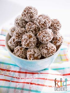 Cacao and coconut seedy bliss balls