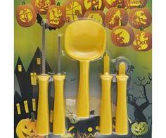 Halloween tök faragó készlet: fűrészek, lapát, lyukasztó, jelölő és minták - remek ajándék gyerekenek