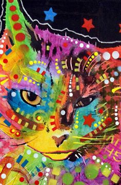 Just so Purr-fect! Puff by Dean Russo Canvas Print