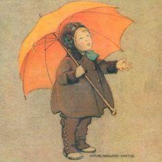 Jesse Wilcox Smith: 'Girl with Orange Umbrella'