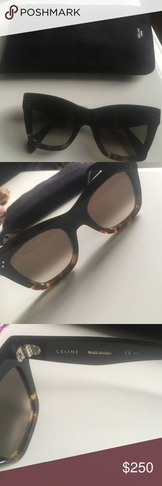 3f56f0b40242 Celine Sunglasses in Catherine style Celine Sunglasses in Catherine style... black with Havana