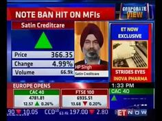 Mr. HP Singh speaks to ET NOW on Demonitization Impact on MFI Sector in ...