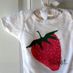 Strawberry baby onesie, sweet Berry Sweet Onesie. $16.00, via Etsy. #pinhonest