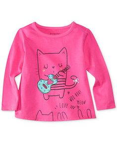 First Impressions Baby Girls' Cat Guitar Tee - Kids First Impressions - Macy's