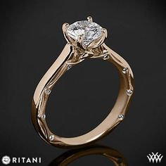 This Solitaire Engagement Ring is from the Ritani Modern Collection. Diamond Wedding Rings, Diamond Engagement Rings, Solitaire Ring, Designer Engagement Rings, Cute Jewelry, Sparkly Jewelry, Diamond Are A Girls Best Friend, Ring Earrings, Vintage Rings