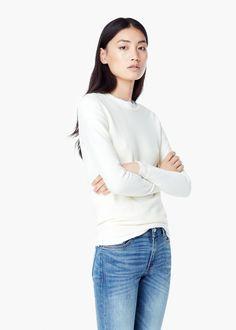 22653bc4a949 Pull-over texturé - Cardigans et pull-overs pour Femme   MANGO Sportswear  Femme