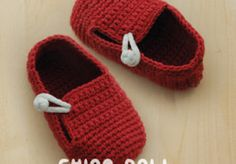 China Doll Baby Booties Crochet Pattern by Kittying