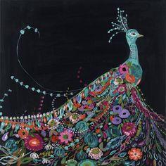 Peacock Diptych Bari J. Designs