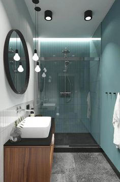 Blue Bathroom: ideas and tips to decorate the environment with this color - Home Fashion Trend Bathroom Design Small, Bathroom Colors, Bathroom Interior Design, Man Bathroom, Modern Bathroom, Home Renovation, Blue Colors, Luxury Bathrooms, Decorating Ideas
