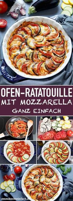 Ratatouille aus dem Ofen mit Mozzarella & www.emmikochteinf& Ratatouille from the oven with mozzarella & www.emmikochteinf & The post Ratatouille from the oven with mozzarella & www.emmikochtinf & appeared first on Pink Unicorn. Sprout Recipes, Veggie Recipes, Vegetarian Recipes, Chicken Recipes, Dinner Recipes, Cooking Recipes, Healthy Recipes, Oven Dishes Recipes, Vegan Meals