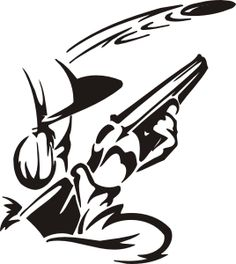 trap shooting 1-62 decal