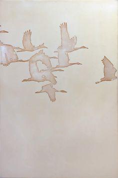 november bosque ~ acrylic and silver leaf on linen ~ thomas swanston Bird Drawings, Schmuck Design, Bird Art, Love Art, Oeuvre D'art, Painting Inspiration, Watercolor Paintings, Modern Art, Art Photography