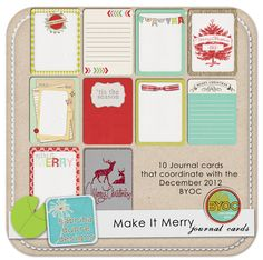Make It Merry Journal Cards